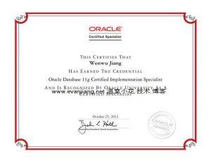 Oracle11g-实施专家认证